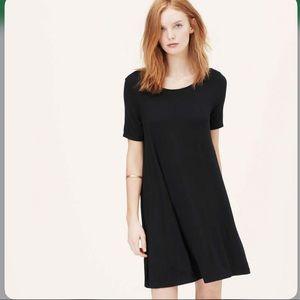 Loft short sleeve swing dress- M Tall
